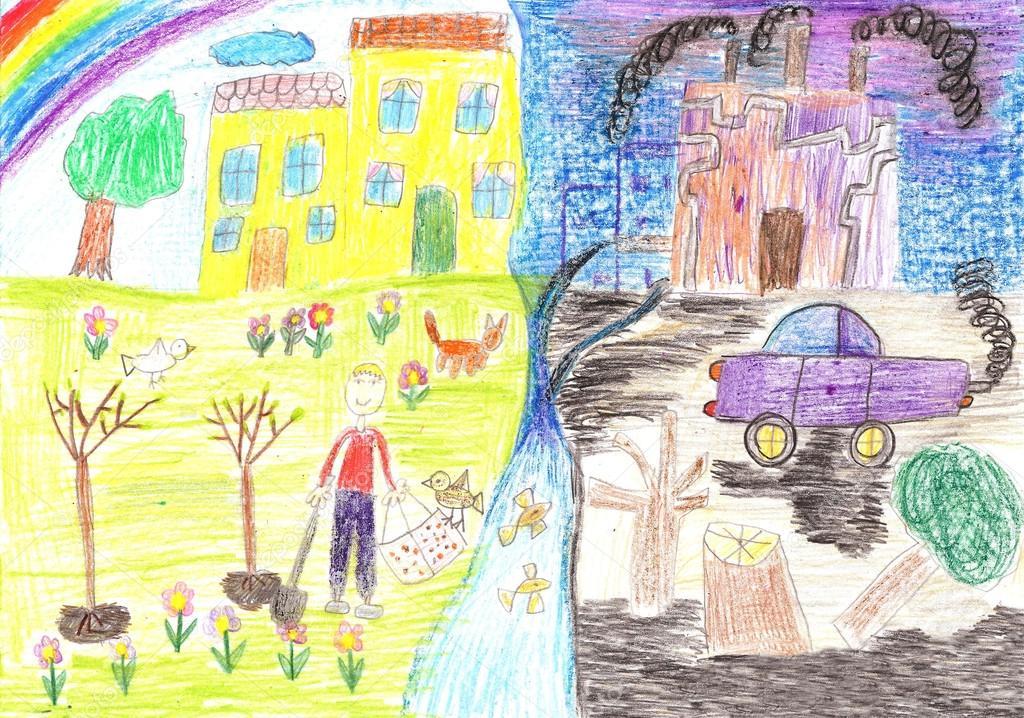 Красивые картинки и рисунки про окружающую среду (3)