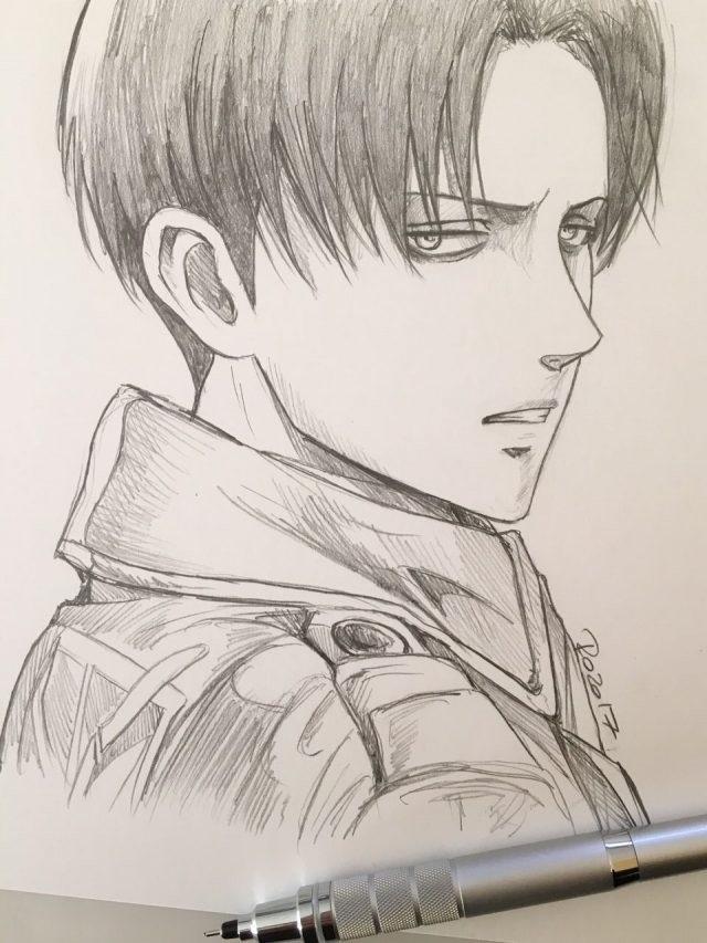 Красивые рисунки Атака титанов для срисовки001
