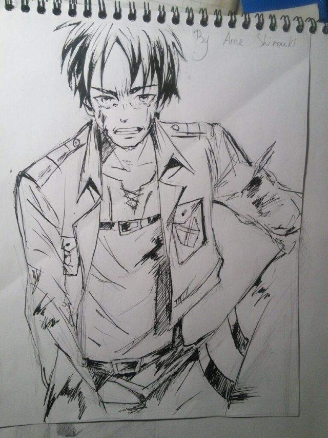 Красивые рисунки Атака титанов для срисовки017