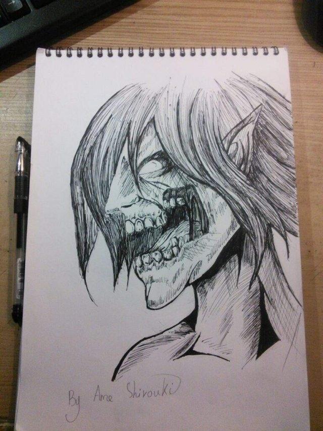 Красивые рисунки Атака титанов для срисовки022