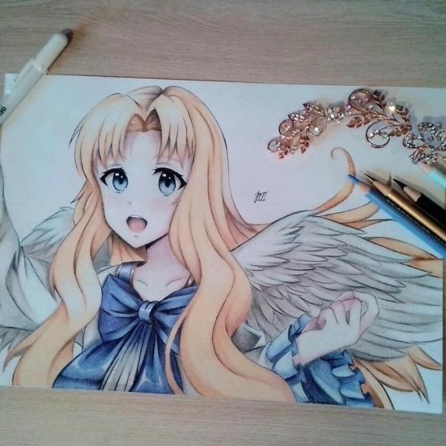 Красивые рисунки Восхождение героя щита для срисовки017