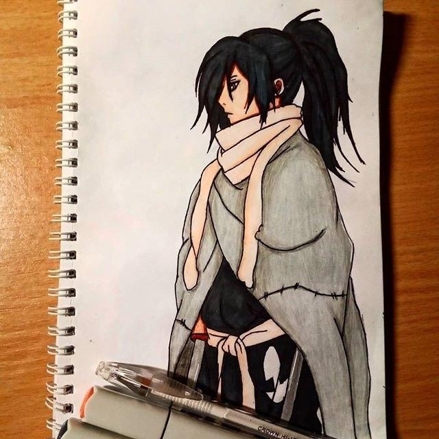 Красивые рисунки Дороро для срисовки013