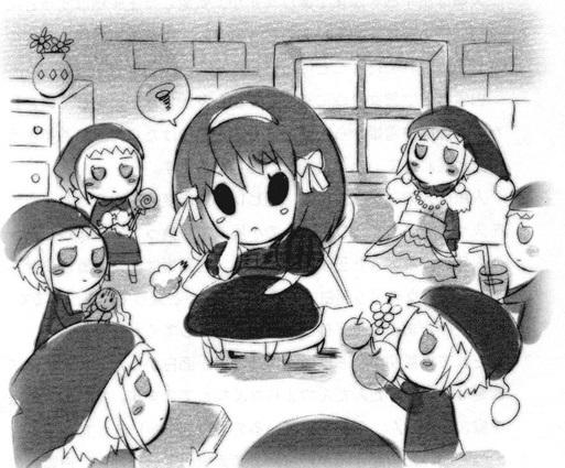 Красивые рисунки Исчезновение Харухи Судзумии для срисовки005