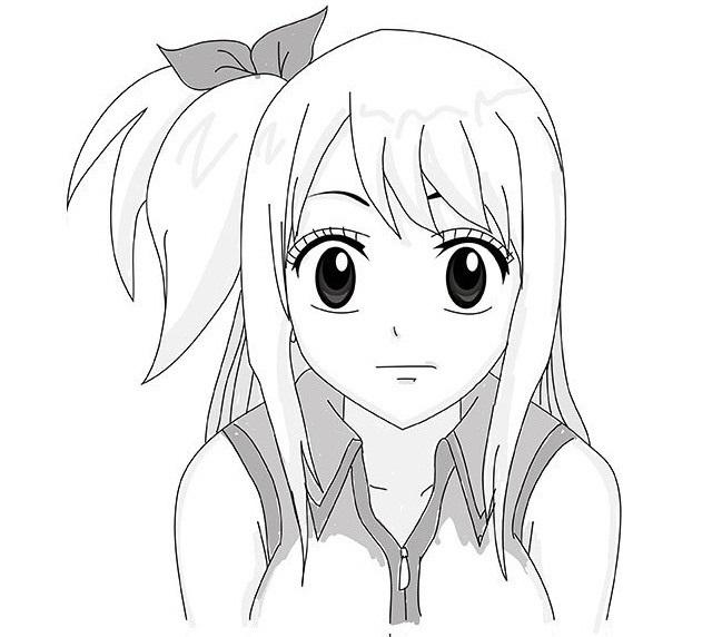 Красивые рисунки Исчезновение Харухи Судзумии для срисовки013