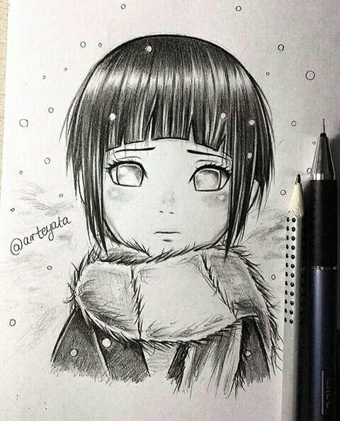 Красивые рисунки Принцесса Мононоке для срисовки007