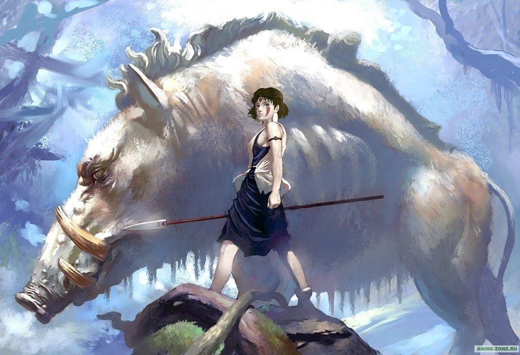 Красивые рисунки Принцесса Мононоке для срисовки016