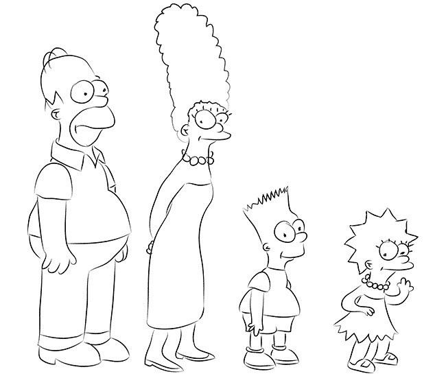 Красивые рисунки Симпсонов для срисовки005