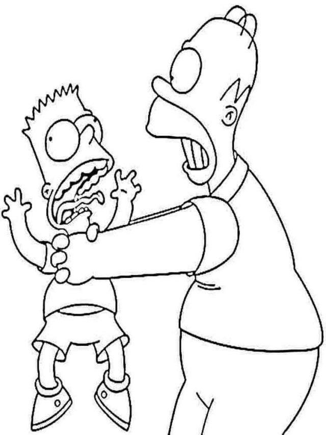 Красивые рисунки Симпсонов для срисовки006