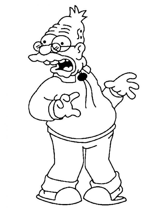 Красивые рисунки Симпсонов для срисовки012