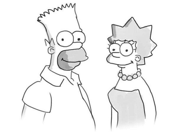 Красивые рисунки Симпсонов для срисовки014