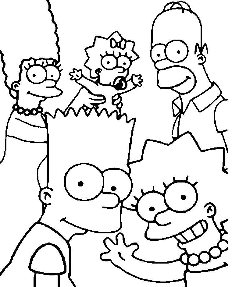 Красивые рисунки Симпсонов для срисовки017