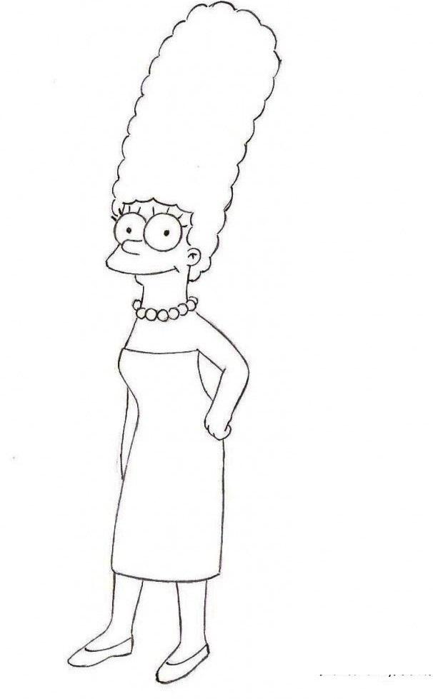Красивые рисунки Симпсонов для срисовки021