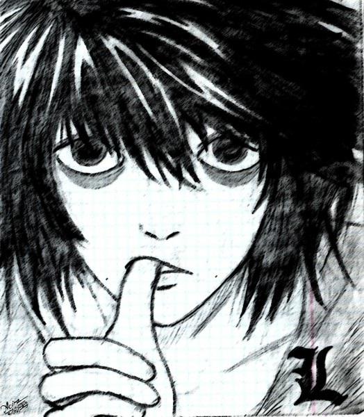 Красивые рисунки Тетрадь смерти для срисовки008