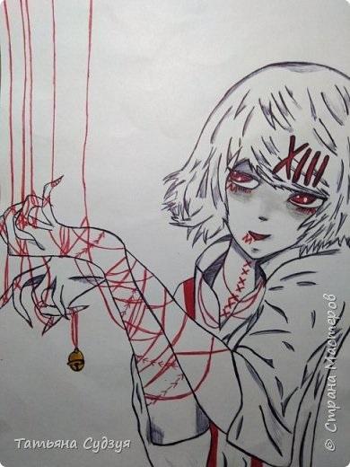Красивые рисунки Токийский Гуль для срисовки013