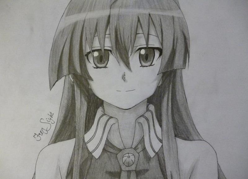 Красивые рисунки Убийца Акаме для срисовки001