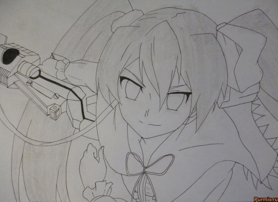 Красивые рисунки Убийца Акаме для срисовки007