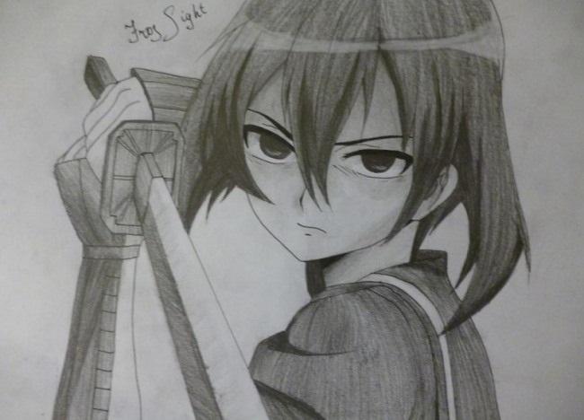 Красивые рисунки Убийца Акаме для срисовки017