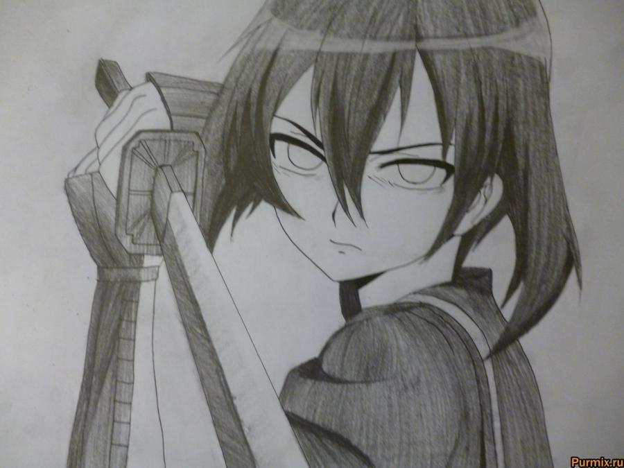 Красивые рисунки Убийца Акаме для срисовки020
