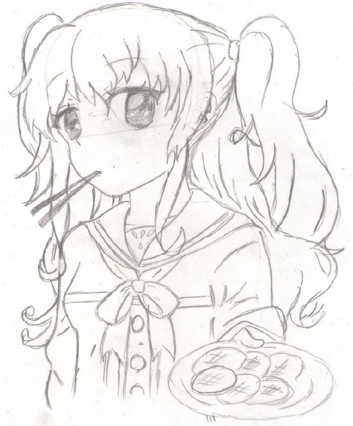 Красивые рисунки Убийца Акаме для срисовки021