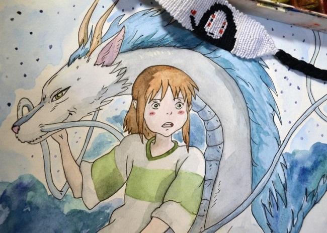 Красивые рисунки Унесенные призраками для срисовки001