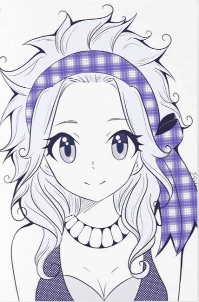 Красивые рисунки Хвост феи для срисовки (2)