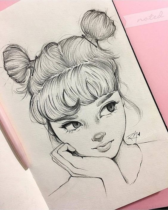 Красивые рисунки Шарлотта для срисовки005
