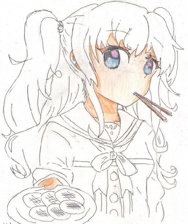 Красивые рисунки Шарлотта для срисовки017