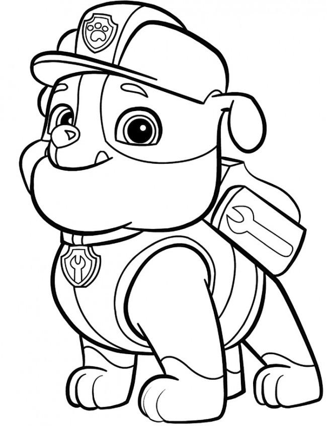 Красивые рисунки Щенячий патруль для срисовки001