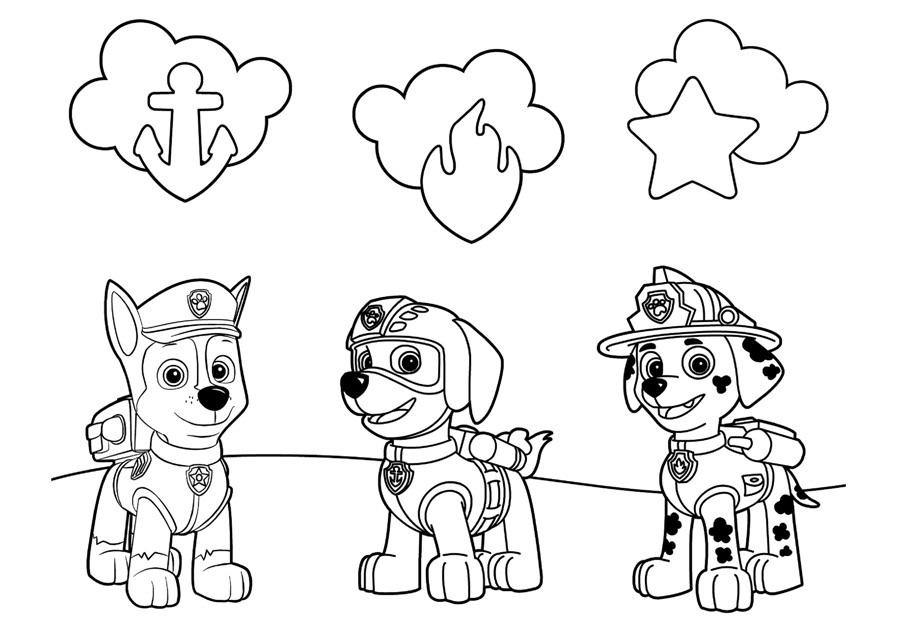 Красивые рисунки Щенячий патруль для срисовки002
