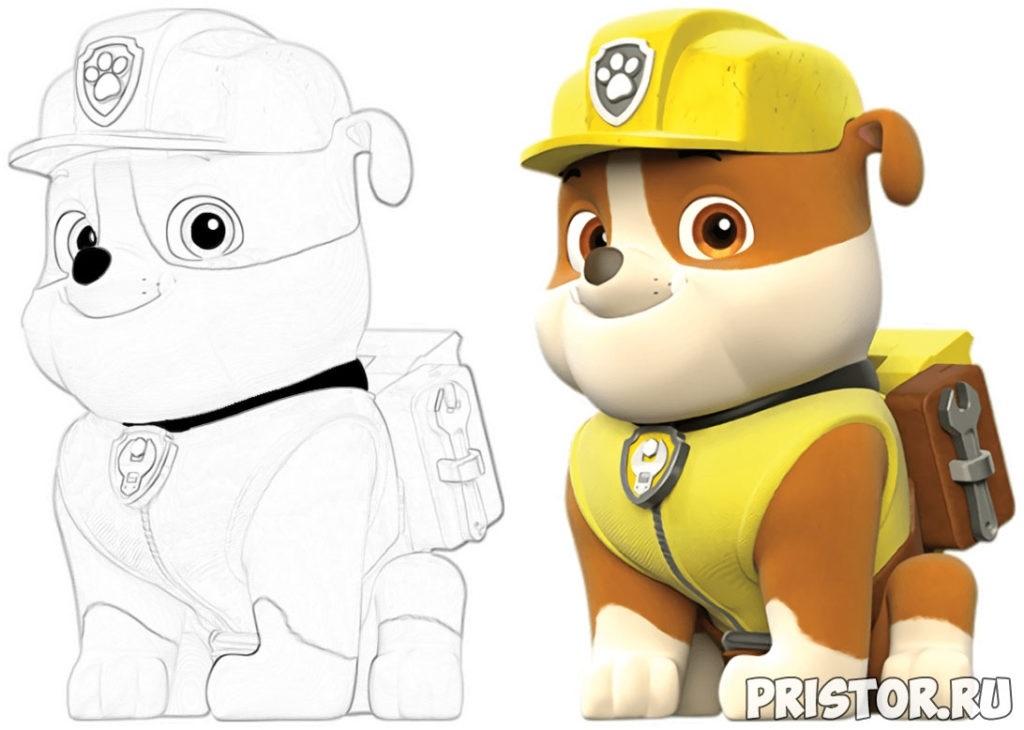 Красивые рисунки Щенячий патруль для срисовки003