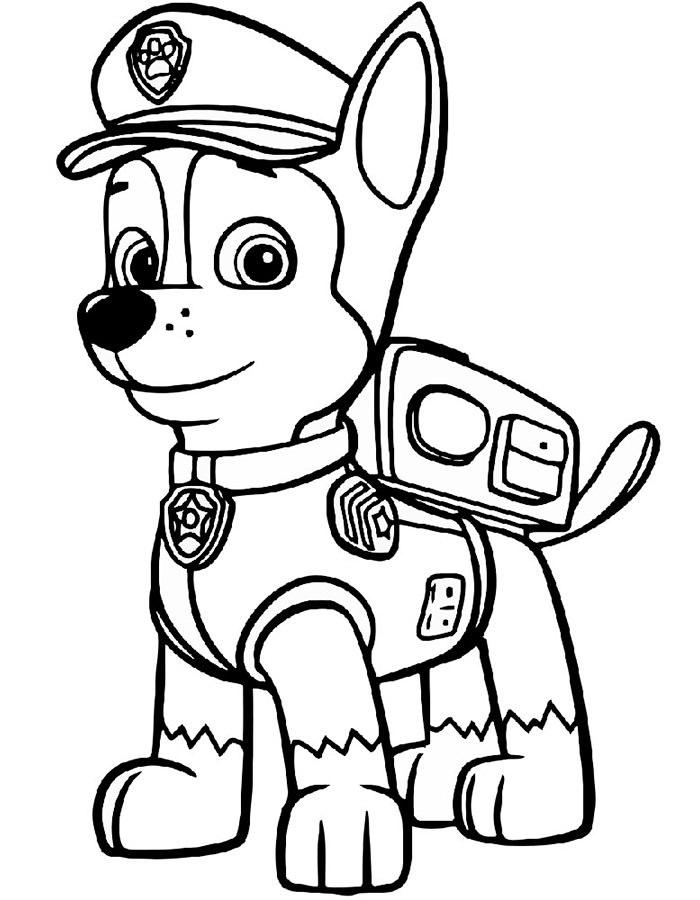 Красивые рисунки Щенячий патруль для срисовки004