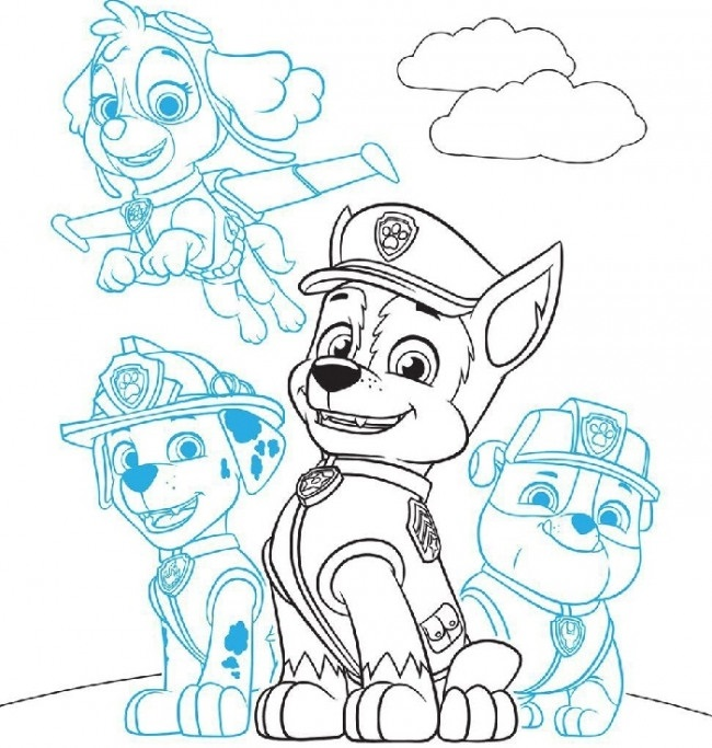 Красивые рисунки Щенячий патруль для срисовки011
