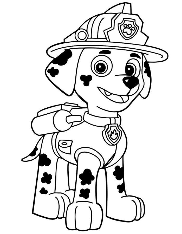Красивые рисунки Щенячий патруль для срисовки019