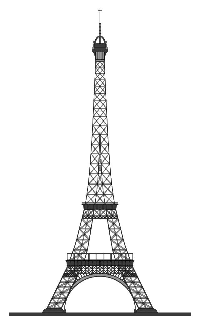 Красивые рисунки Эйфелевой башни для срисовки001