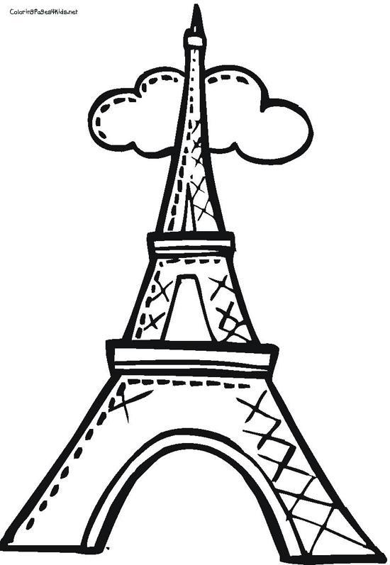 Красивые рисунки Эйфелевой башни для срисовки007