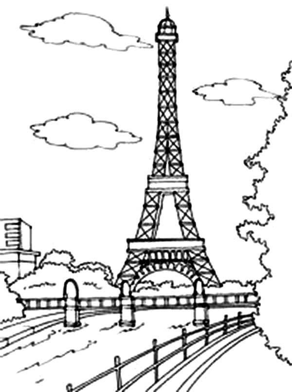 Красивые рисунки Эйфелевой башни для срисовки008