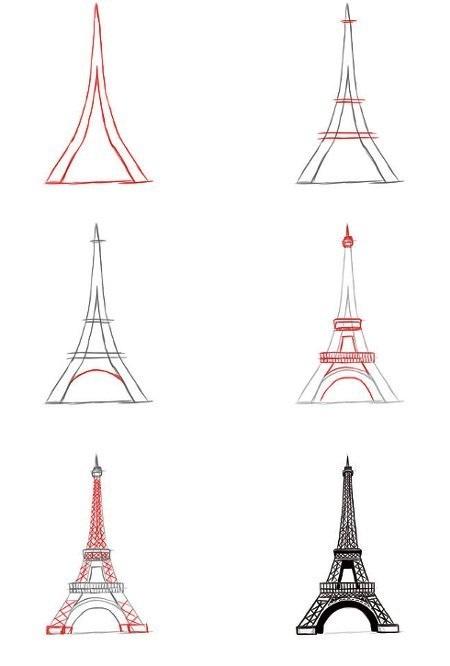 Красивые рисунки Эйфелевой башни для срисовки012