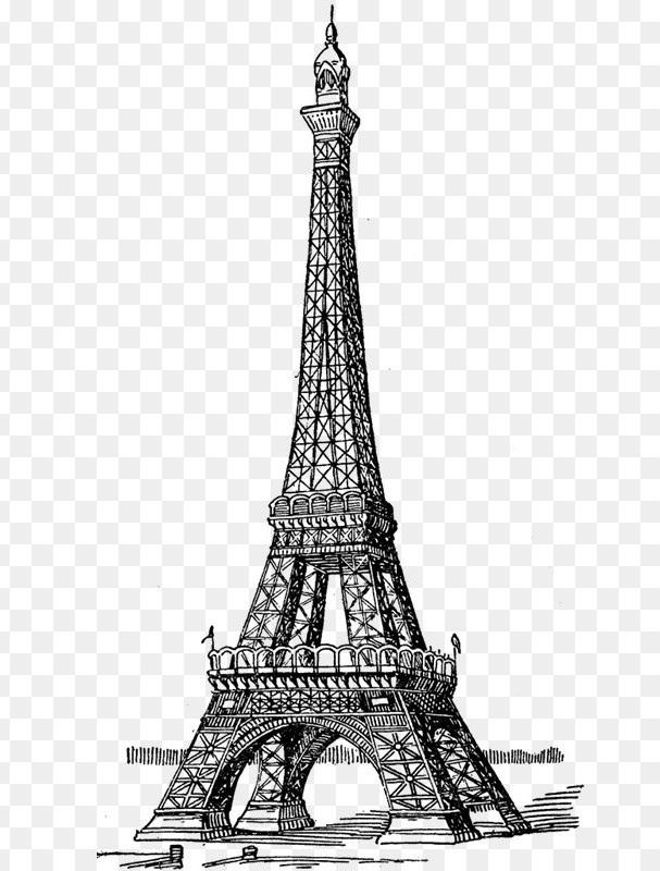 Красивые рисунки Эйфелевой башни для срисовки013