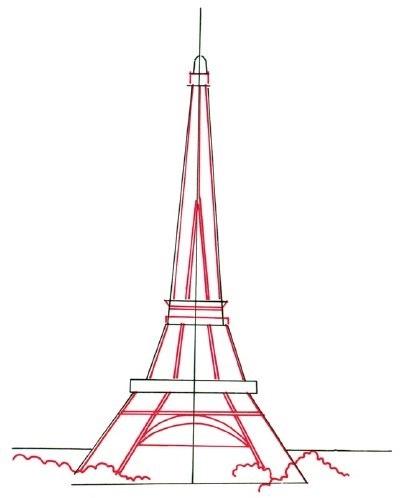 Красивые рисунки Эйфелевой башни для срисовки014