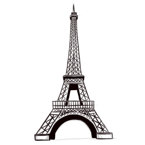 Красивые рисунки Эйфелевой башни для срисовки019