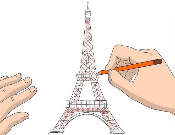 Красивые рисунки Эйфелевой башни для срисовки021
