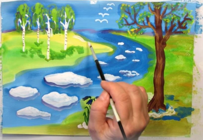 Красивые рисунки акриловыми красками для срисовки005