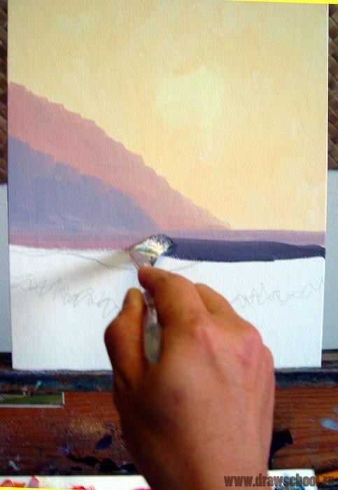 Красивые рисунки акриловыми красками для срисовки007