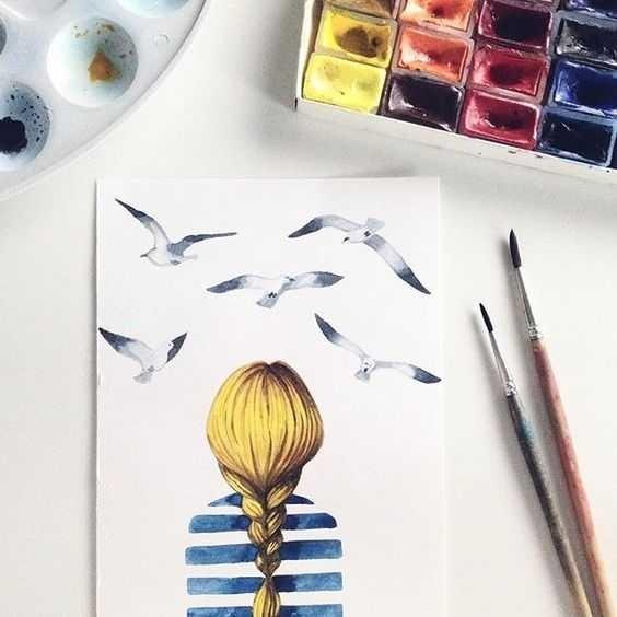 Красивые рисунки акриловыми красками для срисовки008