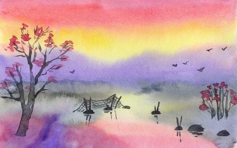 Красивые рисунки акриловыми красками для срисовки012