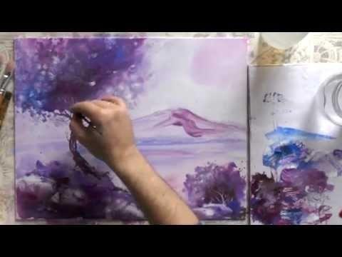 Красивые рисунки акриловыми красками для срисовки014