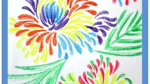 Красивые рисунки восковыми карандашами для срисовки010