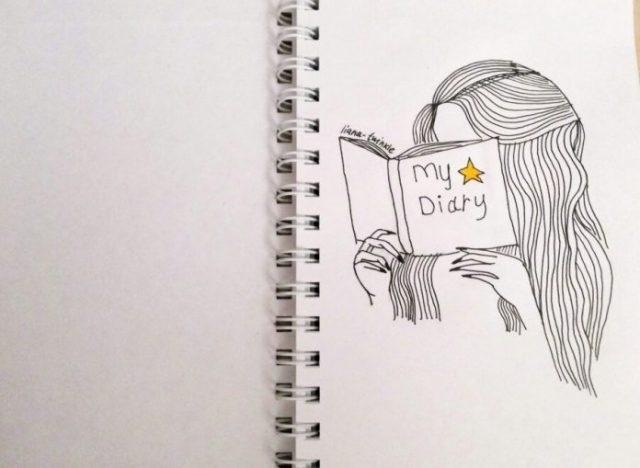 Красивые рисунки в блокноте для срисовки001