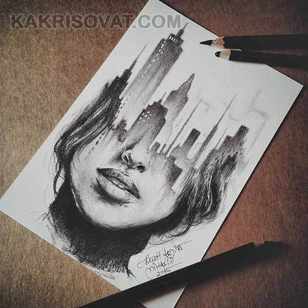 Красивые рисунки в блокноте для срисовки010
