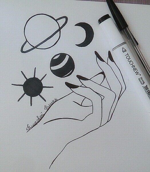 Красивые рисунки в блокноте для срисовки012